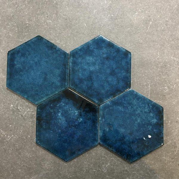 Hexagon Blue 17,5x15,5cm