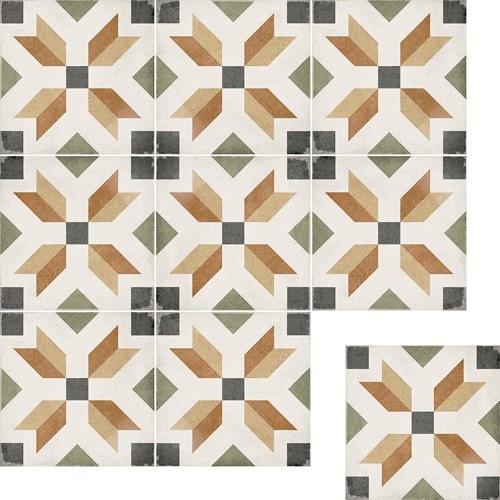Art Nouveau Dec. Empire Color 20x20