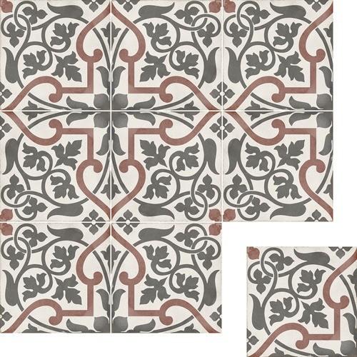 Art Nouveau Dec. Karlsplatz Grey 20x20