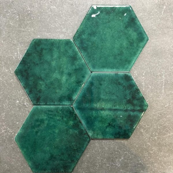 Hexagon Green 17,5x15,5cm